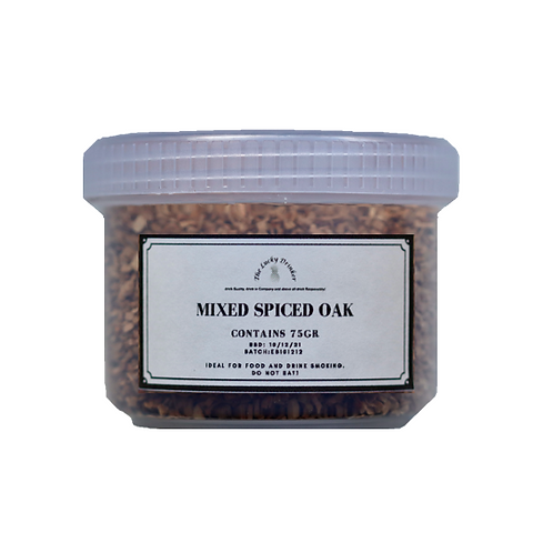 Wood Chips for Smoking - Mixed Spice Oak 75gr
