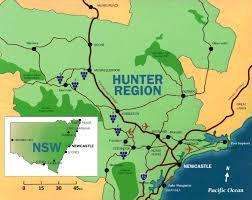 hunter valley map, Tayla Made Tours, New
