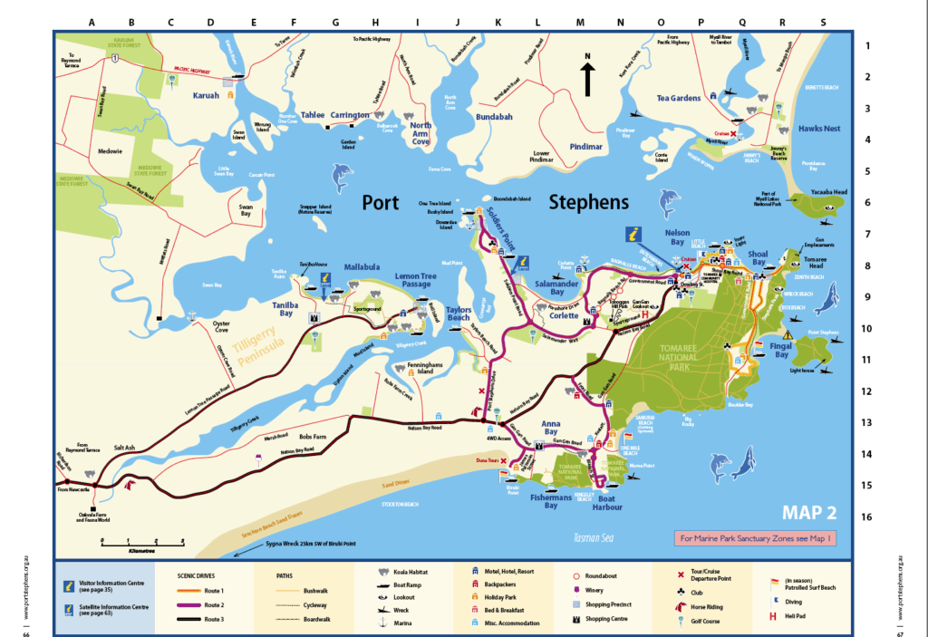 Port-stephens-map-Tayla Made Tours, Newc