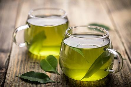 Photo of fresh green tea