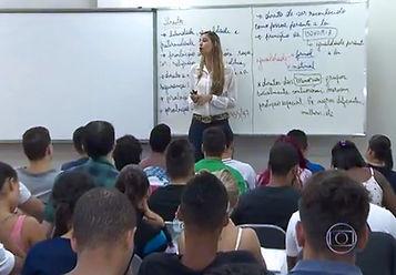 camila miranda mega concursos aula reportagem globo
