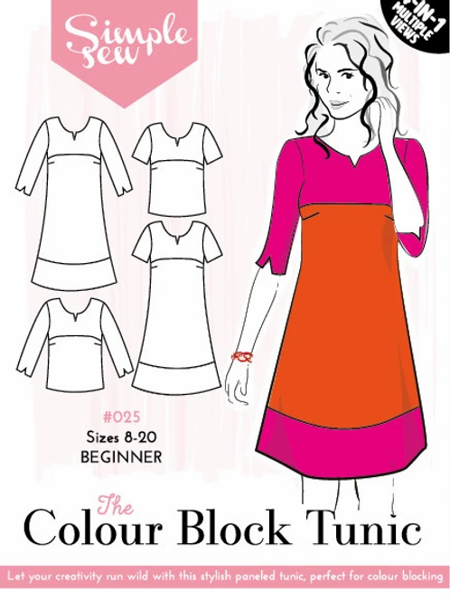 Simple Sew - Colour Block Tunic Pattern