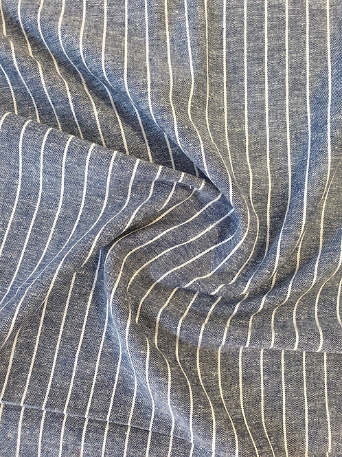Striped Linen Viscose NAVY