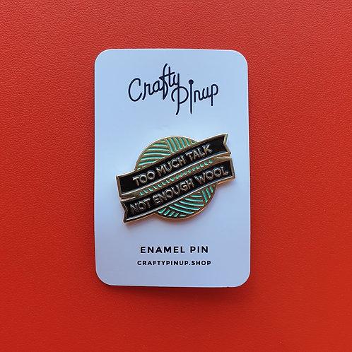 Pin Badge Crafty Pin Up WOOL
