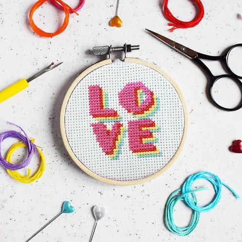 Summer of Love Mini Cross-stitch Kit
