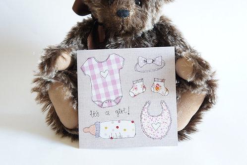 Girl Baby Card