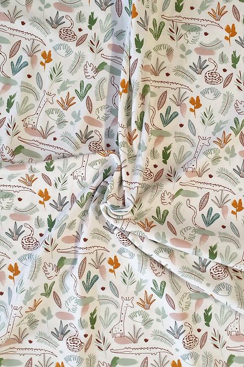 White Jungle Print Jersey