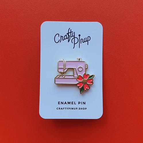 Pin Badge Crafty Pin Up Sewing Machine