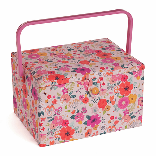 Large Floral Sewing Box