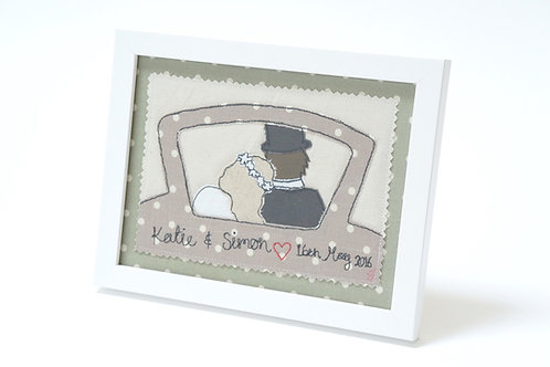 Personalised Wedding Car Frame