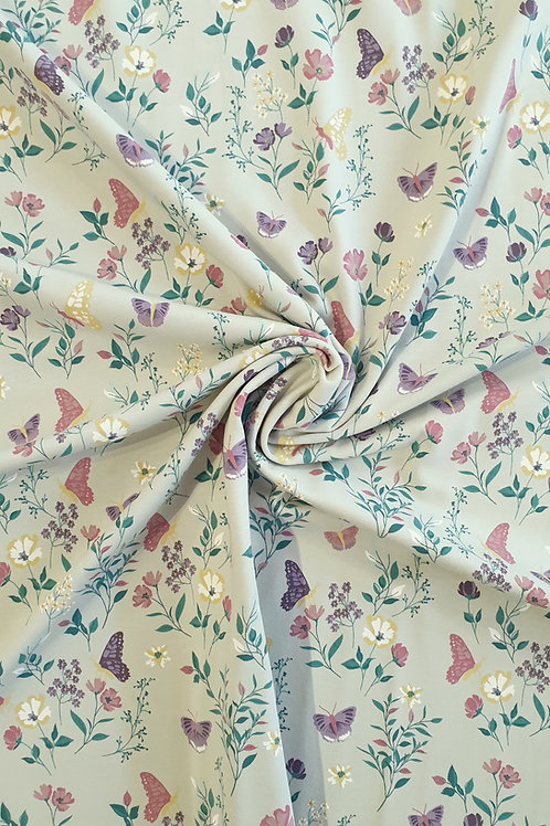 Green Butterfly Print Jersey