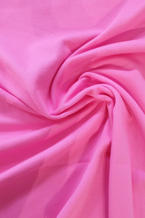 Plain Medium Weight Bright Pink Jersey