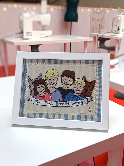 Personalised Family Character Portraits