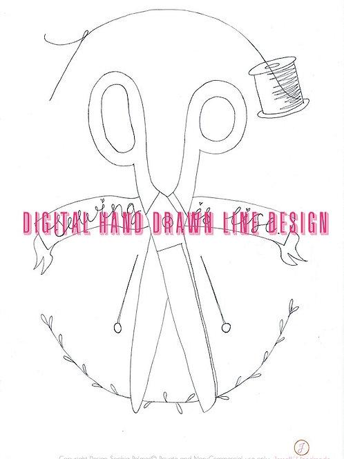 Design Scissors Sewing Life