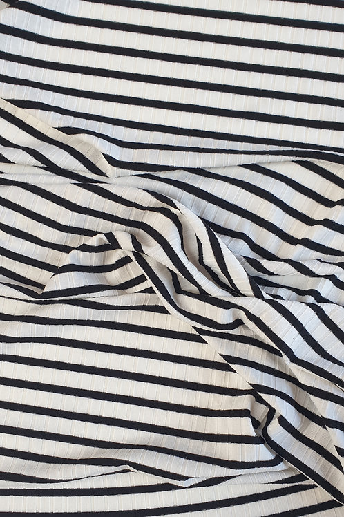 Striped Ribbed Jersey