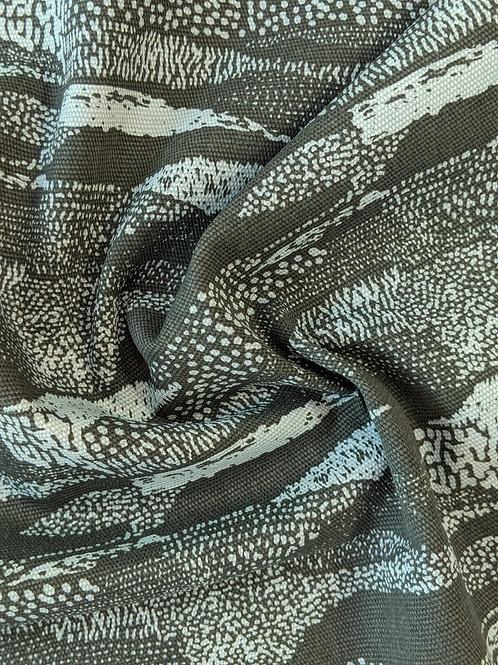 Dark Green Abstract Cotton Canvas