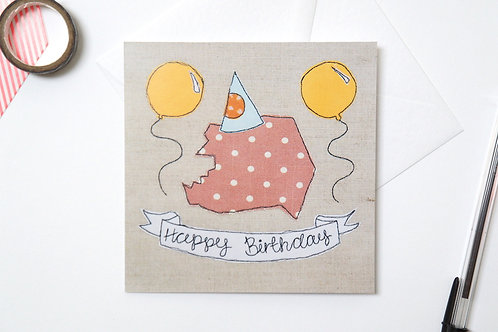 Birthday Pig Card