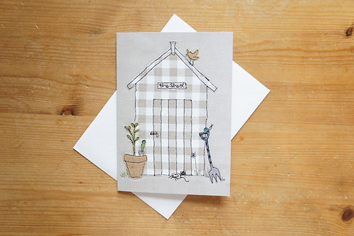 Garden Shed Printed Card Large