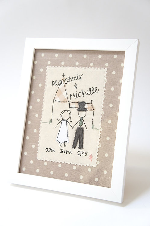 Wedding Couple Church Framed Picture