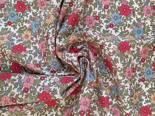 Cotton Poplin Multi Floral