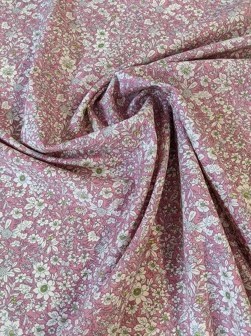 Cotton Poplin Pink Floral