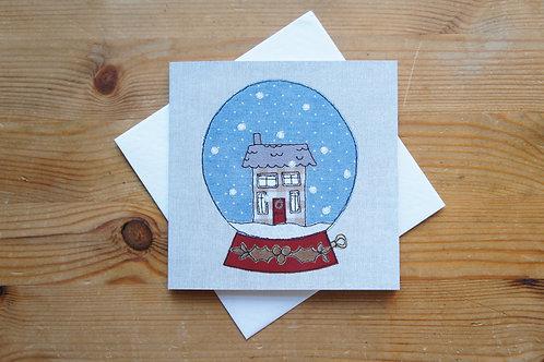 Snowglobe Christmas Card