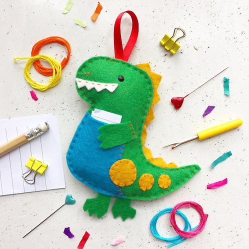 Donnie the Dinosaur Felt Sewing Kit