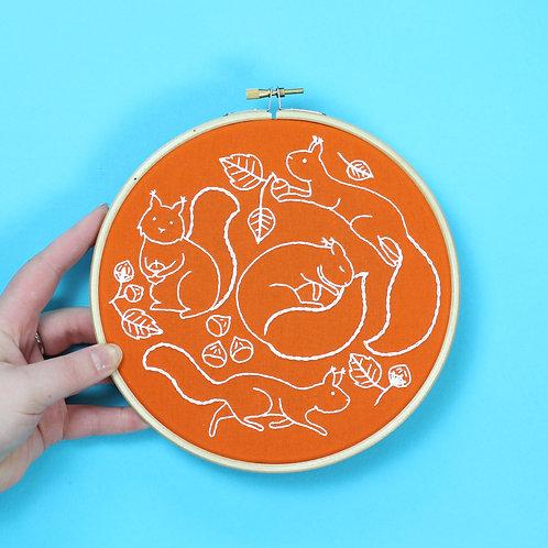 Bright Animal Embroidery Kits