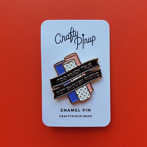 Pin Badge Crafty Pin Up FABRIC