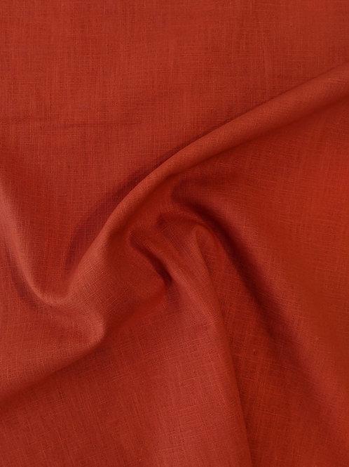 Rust Orange Linen