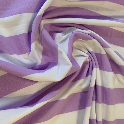 Tilly and the Buttons Lilac Stripe Organic Jersey