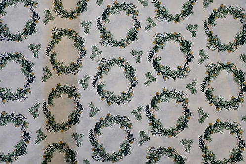 Christmas Wreaths Cotton