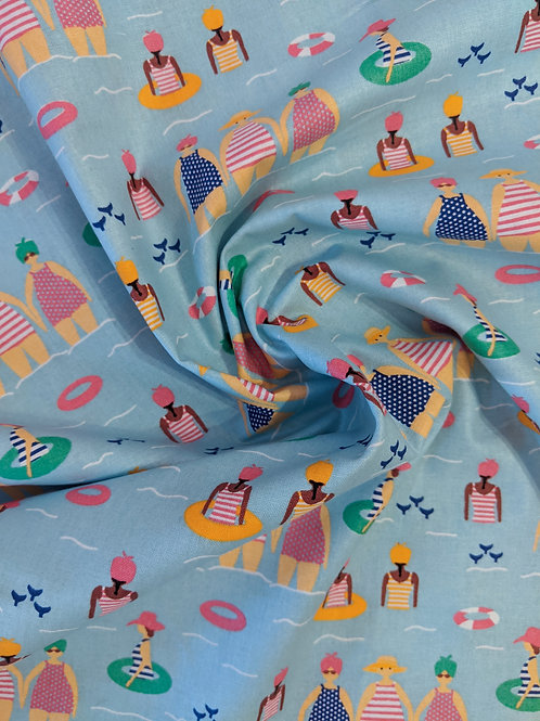 Summer in the Sea Print Cotton