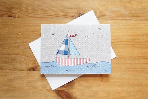 Boat Printed Card Large