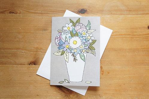 Flower Vase Printed Card Large