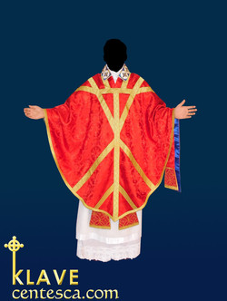 Saint Thomas Becket chasuble from Sens in red