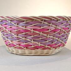 Wave weave basket