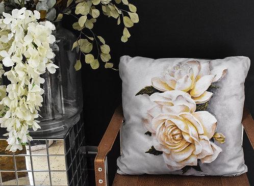 "Funda cojín decorativo ""Gardenias"""