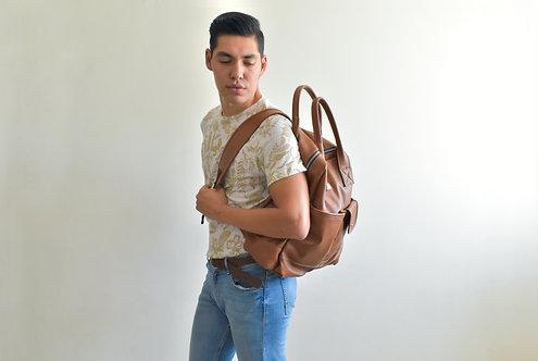 Backpack carryall Tan