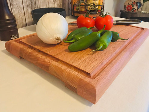 Oak Butcher Block Cutting Board