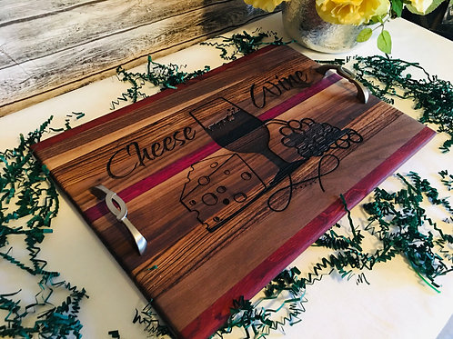 Exotic Wood Wine & Cheese Board