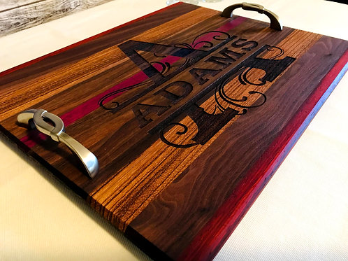 Personalized Exotic Wood Serving Platter