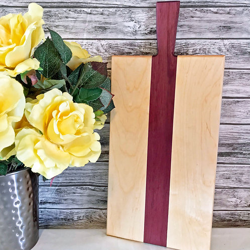 Maple and Purple Heart Charcuterie/Serving Board