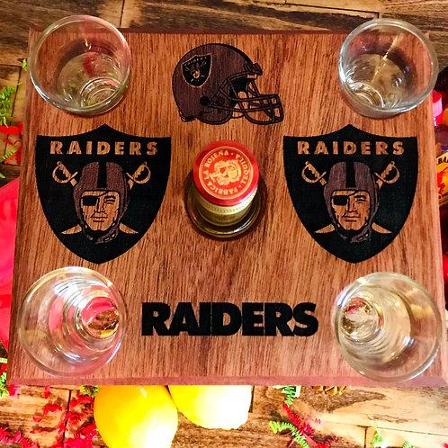 Raiders Tequila Shot Glass Caddy