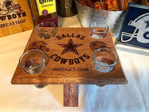 Dallas Cowboys Tequila Shot Glass Caddy