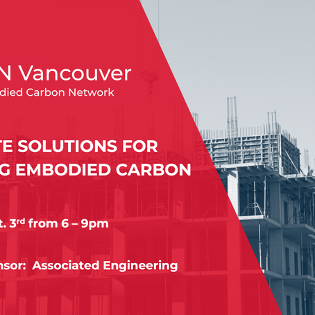 Oct. 3/19 Concrete Solutions for Reducing Embodied Carbon