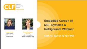 Sept. 15 - Embodied Carbon of MEP Systems & Refrigerants