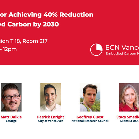 Feb. 13 - BUILDEX: Roadmap for Achieving 40% Reduction in Embodied Carbon by 2030