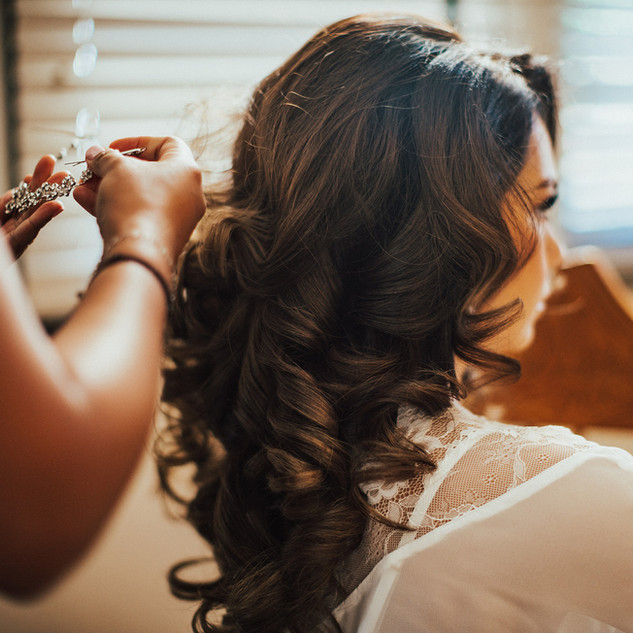 Bridal Hair with extensions by Rachelle Games