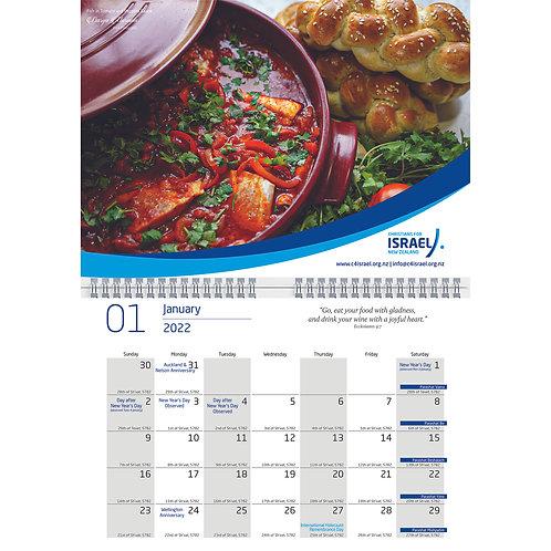 Calendar 2022 - Christians for Israel NZ